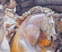 - Der Neptunbrunnen in Rom Acryl Gouche Sara Heinrich Fine Art
