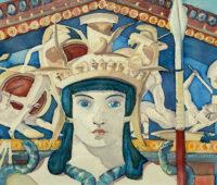 - Die Athena Aquarell Gouche Sara Heinrich Fine Art