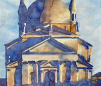 - Tempel Aquarell Sara Heinrich Fine Art