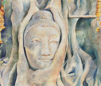 - Wat Mahathat Buddha Aquarell Gouche Sara Heinrich Fine Art