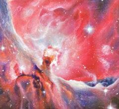 Der Orionnebel Acryl Gouche Sara Heinrich Fine Art