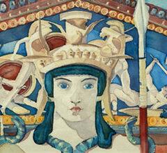 Die Athena Aquarell Gouche Sara Heinrich Fine Art