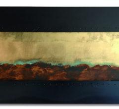 Stahlbild Gold Oxidation 6061