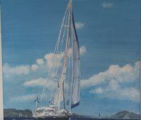- Segelschiff 60x60