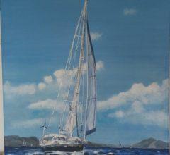 Segelschiff 60x60