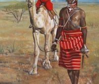 - Samburu Krieger 80bx100h O El Leinwand
