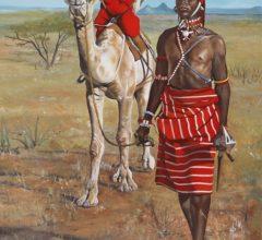 Samburu Krieger 80bx100h O El Leinwand