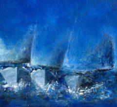 Drei Segelboote-Ausschnitt