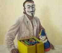 - Anonymus 2014 140 x 120 cm O El auf Leinwand