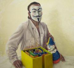 Anonymus 2014 140 x 120 cm O El auf Leinwand