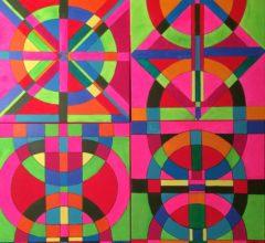 Im Farbensog 120Cm X 120Cm Acryl Auf Leinwand 2016